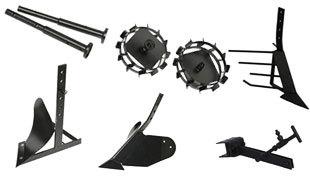 Комплект насадок для FJ500 (грунтозацепы, удлинитель, плуг, картофелевыкапыватель, окучник, сцепка) в Обье